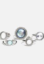 New Look - Iridescent Ring Pack