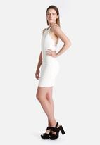 Lavish Alice - White Strap Detail Mini Dress