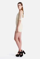 Lavish Alice - Lace Up Sleeve Structured Playsuit