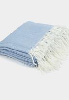 8th Avenue - Diana Dust Blue Throw