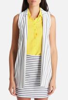 New Look - Stripe Sleeveless Blazer