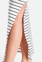New Look - Stripe Strappy Square Neck Maxi