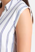 New Look - Jinny Stripe Sleeveless Shirt Dress
