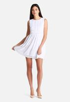 New Look - Circle Trim Sleeveless Smock Dress