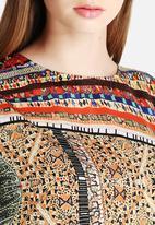 Glamorous - Satin Tribal Print Dress