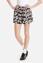 Dahlia - Full Shorts in Sunflower Print