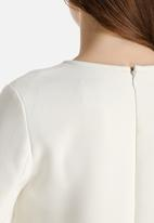 Dahlia - Drop Waist Dress with Removable Collar