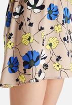 Dahlia - Floral Dress with Cape Detail