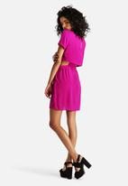 Neon Rose - Cut Out Tulip Dress