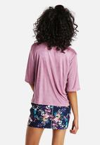 Neon Rose - Luxe Tinted Pink Tee