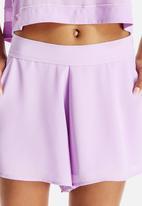 Neon Rose - Babyloc Panel Detail Shorts