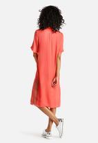 Neon Rose - Peached Utility Midi Dress