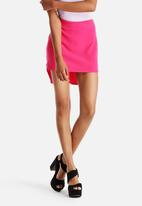 Neon Rose - Drop Back Hem Skirt