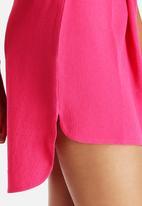 Neon Rose - Drop Back Hem Skirt