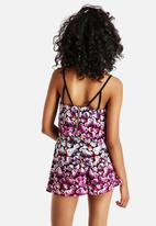 Neon Rose - Dipped Floral Multi Strap Cami