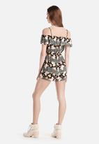 New Look - Gina Folk Cold Shoulder Frill Jumpsuit