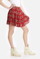 New Look - Mina Paisley Skater Skirt