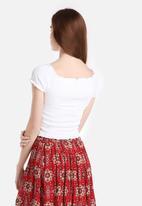 New Look - Shirred Bardot Gypsy Top