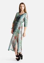 Goldie - Karley Maxi Cobra Print Dress