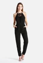 New Look - Fine Lace Insert High Neck Jumpsuit