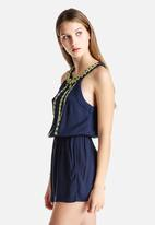 New Look - High Neck Embroidered Playsuit