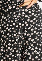 AX Paris - Black Pom Pom Edge Suit