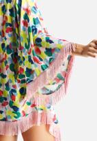 Artistic Revolution in Time - Fringe Kimono