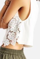 AX Paris - Crochet Detail Top