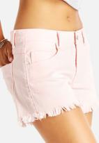 VILA - Fray Denim Shorts
