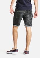 Selected Homme - Black Denim Shorts