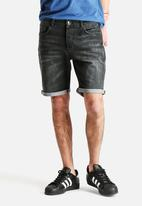 Selected Homme - Black Denim Shorts