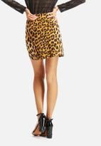 Bardot - Leopard A-Line Skirt