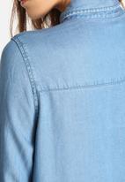 VILA - Elan Denim Long Shirt