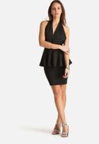 AX Paris - Deep-V Peplum Dress