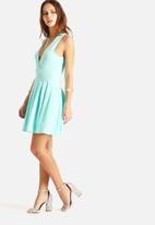 AX Paris - Plunge Neckline Skater Dress