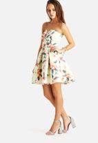AX Paris - Strapless Floral Skater Dress