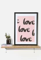 Superbalist Wall Art - Love Love Love