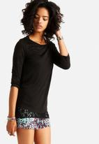 ONLY - Teddy Double 3/4 Lace Top