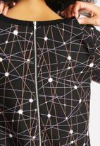 Neon Rose - Supernova Insert Shift Dress