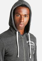 Jack & Jones - Masum Sweat Hood Zip