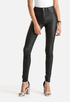 VILA - Commit High-Waisted Coated Jeans