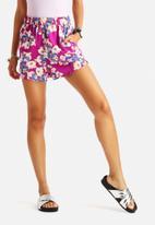 Neon Rose - Fallen Floral Shorts