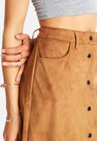 Glamorous - Button Highwaist Pocket Skirt