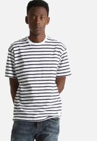 Sol-Sol - Navy Striped Tee