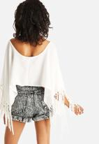 The Lot - Western Sheer Poncho