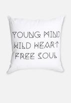 Sixth Floor - Young, Wild & Free Printed Cushion