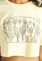 The Lot - Desert Sun Crop Tee