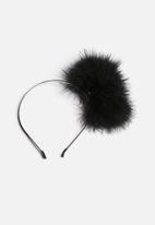 Johnny Loves Rosie - Feather Puff Ball Headband
