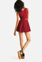 The Lot - Maggie Mae Flair Lace Dress