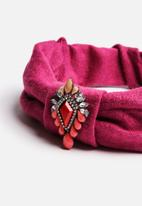 Johnny Loves Rosie - Pink Stone Turban Headband